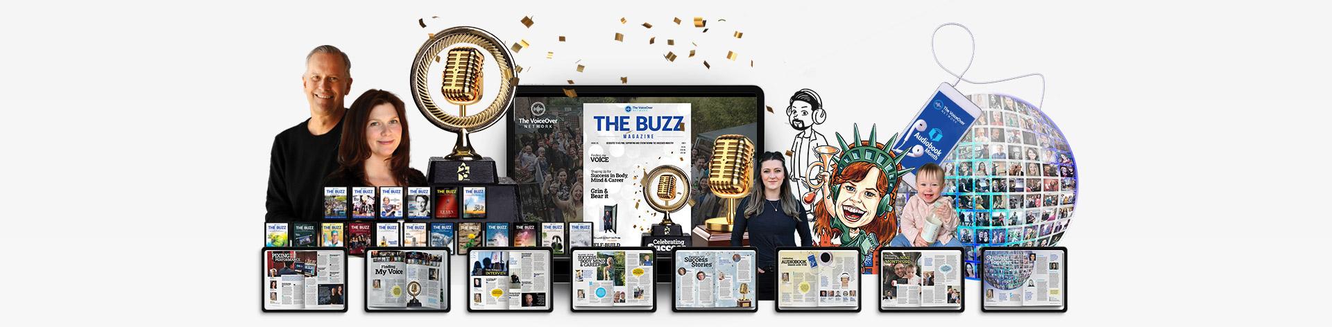 The Buzz Interactive Magazine Header